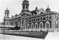 0125108 © Granger - Historical Picture ArchiveELLIS ISLAND, c1920.   Partial view of the main building on Ellis Island, the immigration station in New York Harbor, c1920.