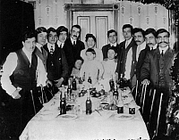 0171928 © Granger - Historical Picture ArchiveIMMIGRANT FAMILY, c1900.   An immigrant family gathered around a dinner table, believed to be in St. Paul, Minnesota. Photograph, c1900.