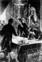 0354992 © Granger - Historical Picture ArchiveLOUISIANA PURCHASE, 1803.   The signing of the Louisiana Purchase by (left to right) Marquis François de Barbe-Marbois, Robert Livingston, and James Monroe in Paris, 30 April 1803. Line engraving, 1904, after a drawing by André Castaigne.