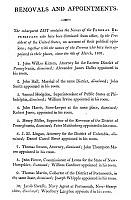 0128488 © Granger - Historical Picture ArchiveANTI-FEDERALIST FIRINGS.   Federalist list, 1801, appended to the New Haven remonstrance, of men allegedly removed from office by President Thomas Jefferson 'on account of their political opinions.'