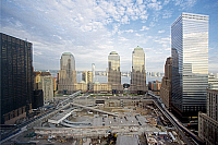 0129230 © Granger - Historical Picture ArchiveNEW YORK CITY: GROUND ZERO.   Construction on the site of the former Twin Towers of the World Trade Center in New York City. Photograph by Carol M. Highsmith, 2006.