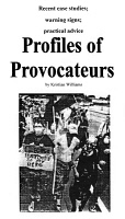 0354530 © Granger - Historical Picture ArchiveOCCUPY WALL STREET, 2012.   Front page of the pamphlet 'Profiles of Provocateurs' by Kristian Williams, distributed by Occupy Wall Street protesters at Union Square in Manhattan, New York City, March 2012.