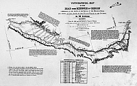 0183980 © Granger - Historical Picture ArchiveMAP: OREGON TRAIL, 1846.   Topographical map, 1846, by Charles Preuss, surveyor on the expedition of John C. Fremont from 1842 to 1844, showing the section of the Oregon Trail that followed the course of the Snake River between Fort Hall and Old Fort Boise in present-day southern Idaho.