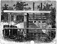 0101448 © Granger - Historical Picture ArchiveRICE: FLOODGATE, 1866.   Floodgate on a South Carolina rice plantation. Wood engraving, 1866.
