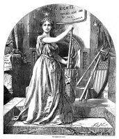 0355246 © Granger - Historical Picture ArchiveNAST: RECONSTRUCTION, 1868.   Personification of the ideals of the Reconstruction, by Thomas Nast, 1868.