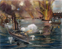 0007901 © Granger - Historical Picture ArchiveSPANISH-AMERICAN WAR, 1898.   The Battle of Manila Bay, 1 May 1898. Contemporary American lithograph.