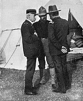 0267037 © Granger - Historical Picture ArchiveNEW YORK: CAMP WIKOFF, 1899.   Surgeon General Sternberg and Chief Surgeon Colonel Forwood at Camp Wikoff, at Montauk Point, Long Island, New York, where soldiers returning from the Spanish-American War were quarantined. Photograph, 1899.