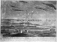 0015486 © Granger - Historical Picture ArchiveBALTIMORE: FORT McHENRY.   The British naval bombardment of Fort McHenry, in Baltimore, Maryland, 13-14 September 1814, during the War of 1812. Contemporary aquatint by John Bower.