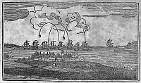 0090306 © Granger - Historical Picture ArchiveFORT McHENRY, 1814.   The bombardment of Fort McHenry, Baltimore, by the British Navy, 13-14 September 1814. Line engraving, 19th century.