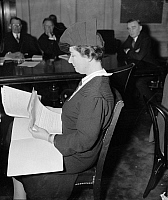 0125570 © Granger - Historical Picture ArchiveEQUAL RIGHTS OPPONENT.   Dorothy Straus, a New York attorney, at a Senate Judiciary Committee hearing on the proposed Equal Rights Amendment, which she argued against, 7 February 1938.