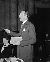 0125571 © Granger - Historical Picture ArchiveEQUAL RIGHTS OPPONENT.   Dean G. Acheson arguing before the Senate Judiciary Committee against the proposed Equal Rights Amendment, 8 February 1938.