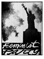 0528085 © Granger - Historical Picture ArchivePOSTER: FEMINISM, 1971.   'Feminist party.' Poster by Anita Steckel, 1971.