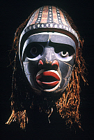 0025441 © Granger - Historical Picture ArchiveNUXALK MASK.   Northwest Coast Bella Coola (Nuxalk) wooden mask from British Columbia, Canada.
