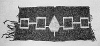 0029471 © Granger - Historical Picture ArchiveNATIVE AMERICANS: WAMPUM BELT.   Wampum belt made to commemorate the Iroquois League of Five Nations (Cayuga, Mohawk, Oneida, Onondaga, and Seneca) established c1570 by the Huron prophet Deganawidah and his disciple Hiawatha.