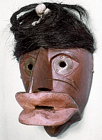0120197 © Granger - Historical Picture ArchiveSENECA FALSE FACE MASK.   Carved wooden False Face 'Speaker Mask,' used in rituals by the Seneca tribe of New York.