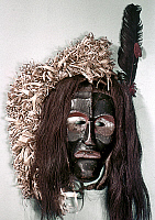 0120202 © Granger - Historical Picture ArchiveONONDAGA FALSE FACE MASK.   False Face 'Harvest' mask used in rituals by the Onondaga tribe of New York.