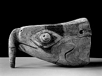 0174455 © Granger - Historical Picture ArchiveCALUSA FIGUREHEAD.   Carved wooden figurehead of the Calusa Native Americans, representing a beaked sea turtle, c800-1400 A.D., excavated at Key Marco, Florida, by Frank Hamilton Cushing in 1896.