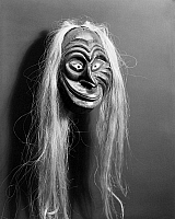 0175254 © Granger - Historical Picture ArchiveIROQUOIS FALSE FACE MASK.   Carved wooden mask of the Iroquois False Face Society, worn during healing rituals.