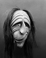 0175255 © Granger - Historical Picture ArchiveIROQUOIS FALSE FACE MASK.   Carved wooden mask of the Iroquois False Face Society, worn during healing rituals.