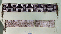 0175414 © Granger - Historical Picture ArchiveIROQUOIS WAMPUM BELTS.   Wampum belts of the Oneida and Mohawk Native American tribes, made of shell beads.