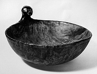 0175491 © Granger - Historical Picture ArchiveNATIVE AMERICAN BOWL.   Bowl with an effigy head used in Grand Medicine rituals, made from carved maple wood. Sauk and Fox, from Oklahoma, mid-19th century.
