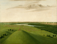 0028937 © Granger - Historical Picture ArchiveCATLIN: FORT UNION, 1832.   Oil on canvas by George Catlin.