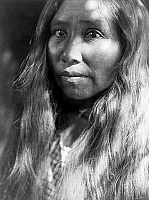 0118097 © Granger - Historical Picture ArchiveKATO WOMAN, c1924.   A Kato Native American woman from California. Photograph by Edward Curtis, c1924.