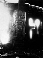 0174596 © Granger - Historical Picture ArchiveCANADA: HOUSE POST.   Post carved from cedar inside a Heiltsuk house at Bella Bella, on the coast of British Columbia, Canada. Photographed c1905.