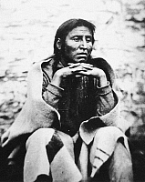 0027761 © Granger - Historical Picture ArchiveMEDICINE BOTTLE (d. 1865).   Dakota Sioux Native American leader. Photographed in 1864 while a prisoner at Fort Snelling, Minnesota, for his participation in the Sioux Uprising of 1862.