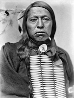 0114333 © Granger - Historical Picture ArchiveSIOUX NATIVE AMERICAN, c1900.   Flying Hawk, a Sioux Native American from Buffalo Bill's Wild West Show. Photograph by Gertrude Käsebier, c1900.