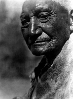 0114450 © Granger - Historical Picture ArchivePAIUTE MAN, c1924.   An elderly Paiute man from Pyramid Lake, Nevada. Photograph by Edward Curtis, c1924.
