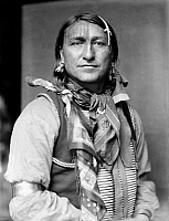 0115749 © Granger - Historical Picture ArchiveSIOUX NATIVE AMERICAN, c1900.   Joe Black Fox, a Sioux Native American from Buffalo Bill's Wild West Show. Photographed by Gertrude Käsebier, c1900.
