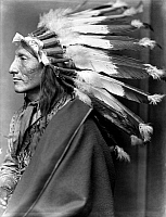 0116252 © Granger - Historical Picture ArchiveSIOUX NATIVE AMERICAN, c1900.   Whirling Horse, a Sioux Native American man. Photographed by Gertrude Käsebier, c1900.
