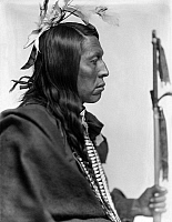 0116262 © Granger - Historical Picture ArchiveSIOUX NATIVE AMERICAN, c1900.   Flying Hawk, a Sioux Native American man. Photographed by Gertrude Käsebier, c1900.