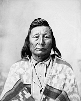 0121536 © Granger - Historical Picture ArchiveNEZ PERCE NATIVE AMERICAN.   Wa-nik-noote, a Nez Perce Native American. Photograph, c1899.