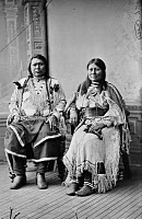 0163438 © Granger - Historical Picture ArchiveUTE CHIEF AND WIFE, 1880.   Ute Chief Ouray and his wife, Chipeta. Photograph, 1880.