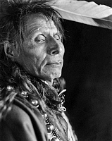 0259083 © Granger - Historical Picture ArchiveBLACK CROW, 1913.   Portrait of Black Crow, a Hidatsa Native American, photographed at Elbowoods, Fort Berthold Reservation in North Dakota, by Rodman Wanamaker, 1913.