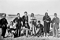 0061052 © Granger - Historical Picture ArchiveFORT LARAMIE PEACE TREATY.   Several participants of the treaty convention held in Wyoming, 1868.