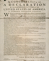 0065476 © Granger - Historical Picture ArchiveDECLARATION OF INDEPENDENCE   The first printing of the Declaration of Independence, also known as the 'Dunlop Broadside.' Printed by John Dunlop, in Philadelphia, 4 July 1776.