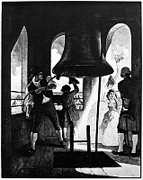 0113577 © Granger - Historical Picture ArchiveLIBERTY BELL, 1776.   'Ringing Out Liberty, July 8 1776.' Lithograph, c1929, after a painting by N.C. Wyeth.