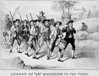 0354935 © Granger - Historical Picture ArchiveMINUTEMEN: HEROES OF 1776.   'Heroes of