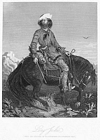 0078670 © Granger - Historical Picture ArchiveFRONTIERSMAN, c1850.   'Long Jakes, The Rocky Mountain Man.' Steel engraving, after a painting by Charles Deas, 1844.