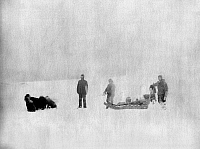 0122197 © Granger - Historical Picture ArchiveCANADA: EXPEDITION, c1882.   Sergeant Jewell and an Eskimo identified as Christiansen, members of the Lady Franklin Bay Expedition, starting from Fort Conger to support Dr. Octave Pavy, Canada. Photograph, March 1882.