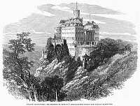 0092977 © Granger - Historical Picture ArchivePOLAND: CASTLE.   View of the Furstenstein castle in Silesia, Prussia (present-day Poland). Wood engraving, English, 1875.