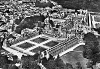 0092979 © Granger - Historical Picture ArchiveFRANCE: FONTAINEBLEAU.   Aerial view of the Chateau de Fontainebleau, France. Photographed mid-20th century.