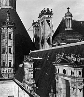 0165628 © Granger - Historical Picture ArchiveCHATEAU DE CHAMBORD.   Roof detail from the Château de Chambord in the Loire Valley, France, constructed in the 16th century. Photograph, mid-20th century.
