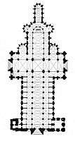 0075227 © Granger - Historical Picture ArchiveROUEN CATHEDRAL: PLAN.   Floor plan of 13th century Cathedral of Notre Dame at Rouen, France.
