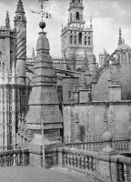 0527116 © Granger - Historical Picture ArchiveCATHEDRAL, c1920.   View of a cathedral, possibly in France. Photograph by Arnold Genthe, c1920.