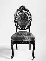 0116656 © Granger - Historical Picture ArchiveVICTORIAN CHAIR, c1850.   American Victorian Rococo side chair by John Henry Belter, New York City, c1850.