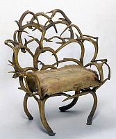 0129001 © Granger - Historical Picture ArchiveANTLER CHAIR.   Armchair made with antlers, Maine, probably late 19th century.